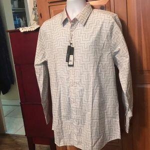 Galaxy Men's Designer Shirt Size L Large White New